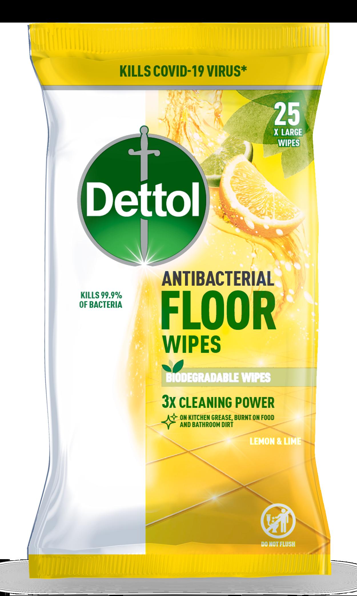Dettol Multi Purpose Floor Wipes Fresh Citrus Burst