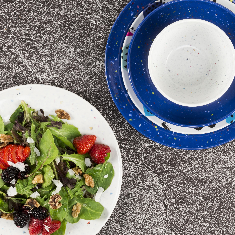 Confetti Salad Plate, Blue slideshow image 7