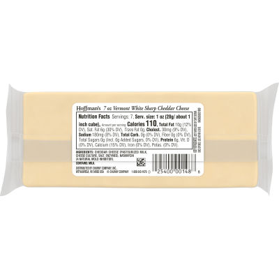 Hoffman's Natural Vermont Sharp Cheddar Cheese 7 oz Wrapper