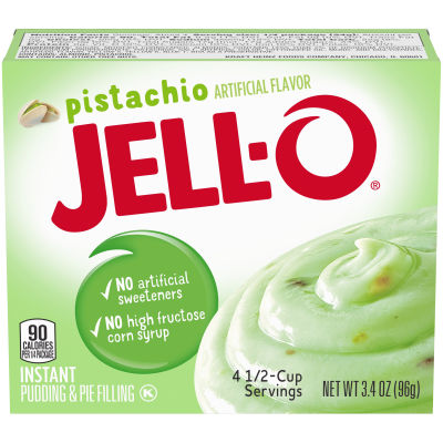 Jell-O Pistachio Instant Pudding, 3.4 oz Box