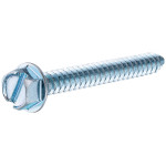 Zinc Slotted Hex Head Sheet Metal Screws
