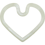 Quick-Tag Large Heart Glow-in-the-Dark Silencer