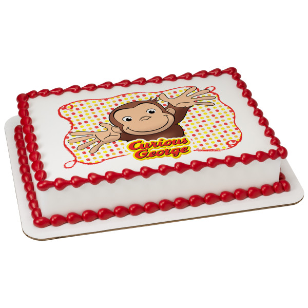 Curious George® Let's Celebrate PhotoCake® Edible Image®