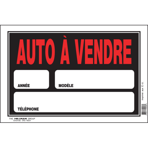 French Car for Sale Sign, 8