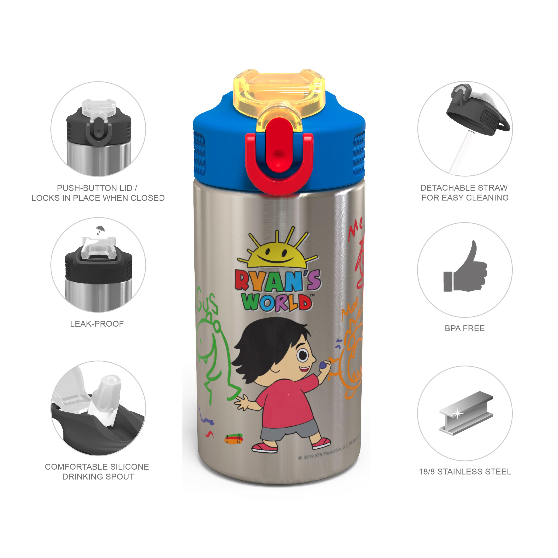 Ryan's World 15.5 ounce Water Bottle, Ryan & Friends slideshow image 4