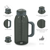 Genesis 64 ounce Water Bottles, Charcoal slideshow image 2