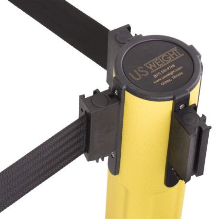 Sentry Stanchion - Yellow with Black Belt 7