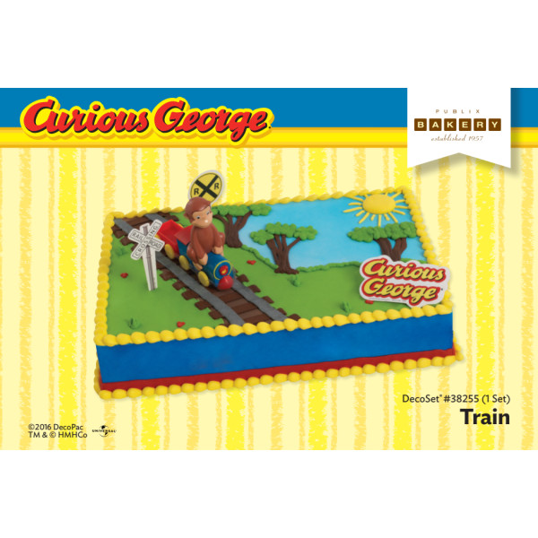 Curious George® Train Cake Decorating Instruction Card