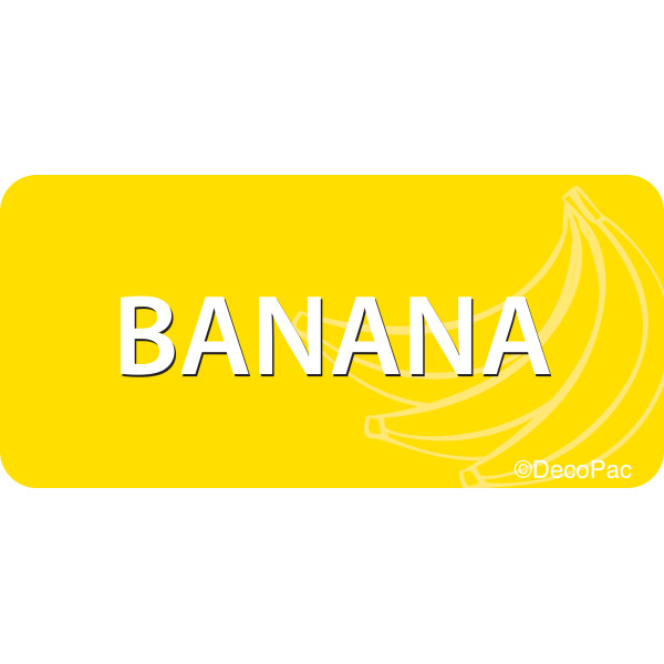 Banana Promotional Label