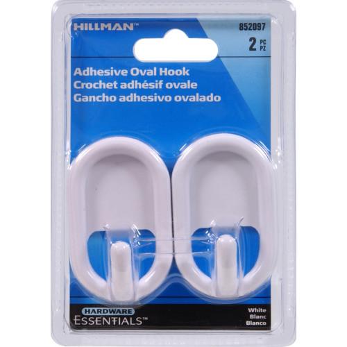 Hardware Essentials Oval Plastic Hanging Hook