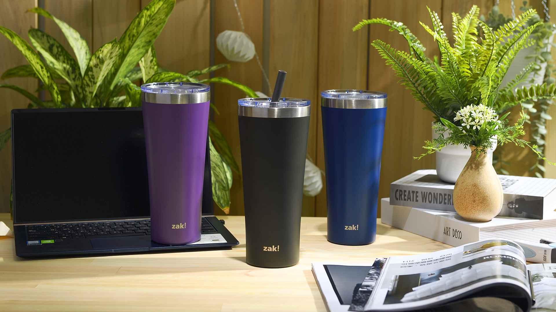 Alpine 30 ounce Stainless Steel Vacuum Insulated Tumbler with Straw, Charcoal slideshow image 7