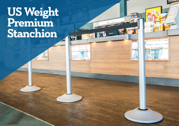 Premium Steel Stanchion with Extended Belt - Silver 2