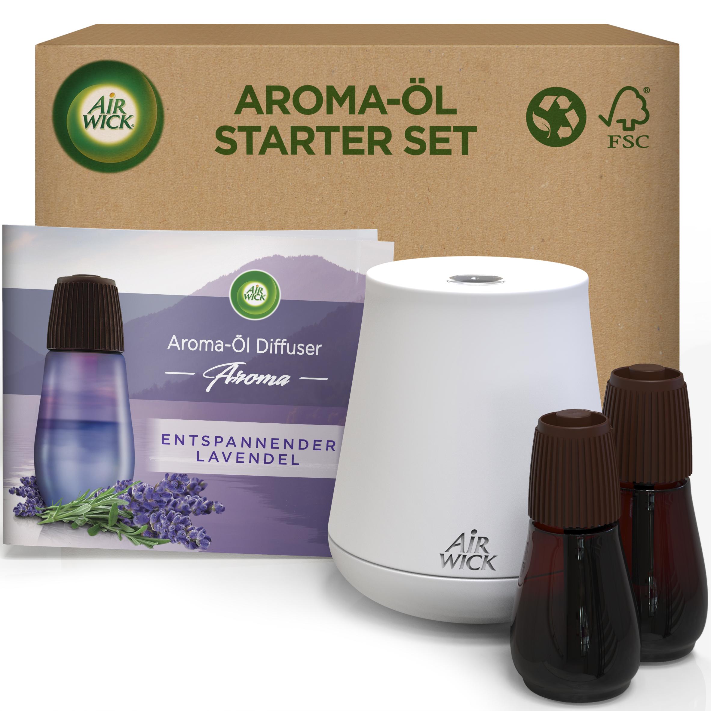 Air Wick Aroma-Öl Diffuser eCom Starter-Set Entspannender Lavendel
