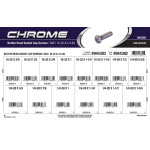"Chrome Button-Head Socket Cap Screws Assortment (#10-32 & 1/4""-28 Thread)"