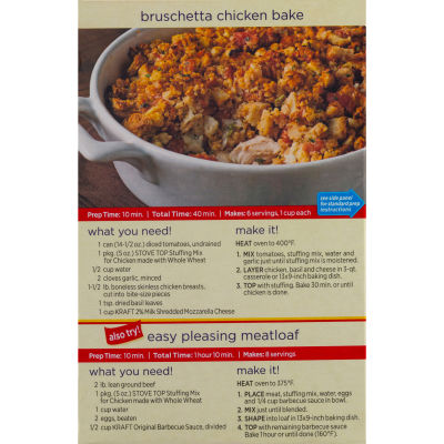 Kraft Stove Top Stuffing Mix Made with Whole Wheat for Chicken 5 oz Box
