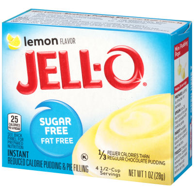Jell-O Lemon Sugar Free Fat Free Instant Pudding & Pie Filling, 1 oz Box