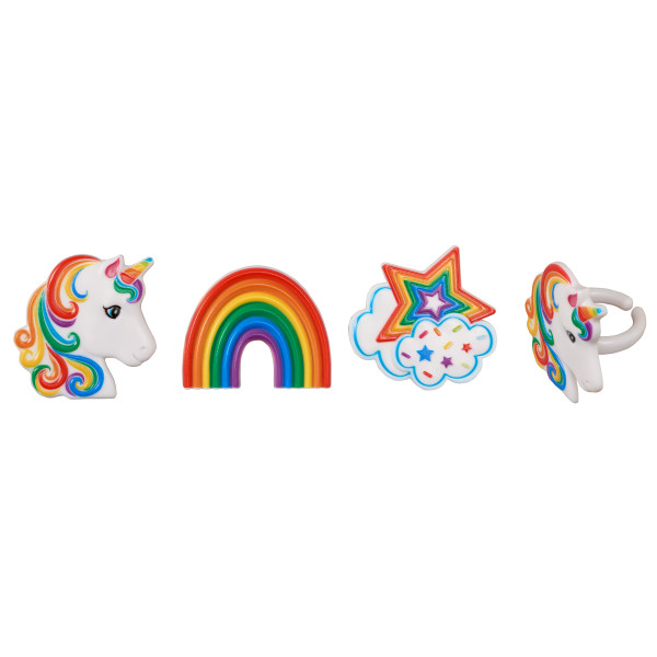 Rainbow Unicorn Cupcake Rings