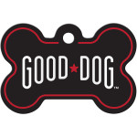 Good Dog Black Large Bone Quick-Tag