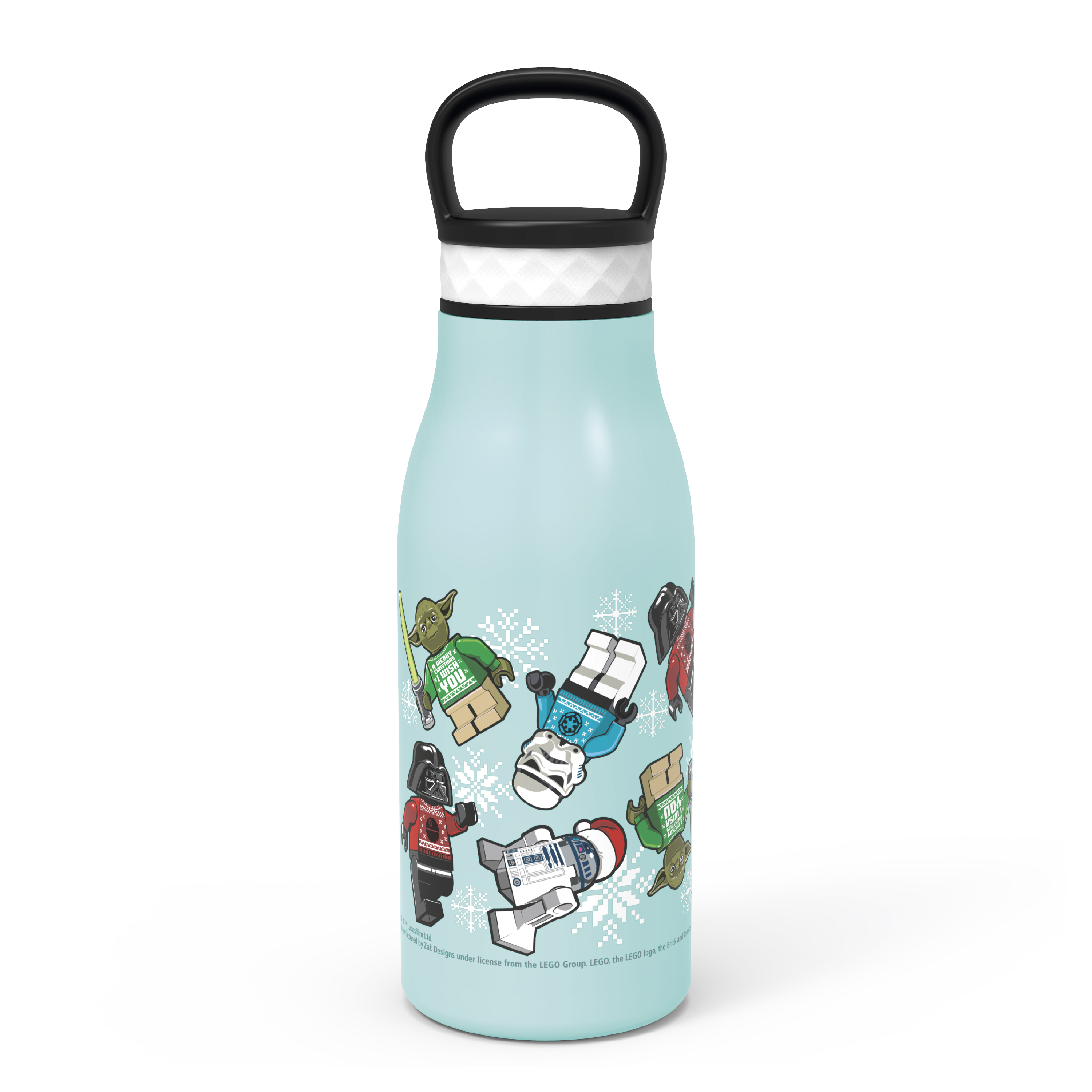 Lego Star Wars 12 ounce Stainless Steel Vacuum Insulated Water Bottle, Darth Vader, Stormtroopers and Yoda slideshow image 5