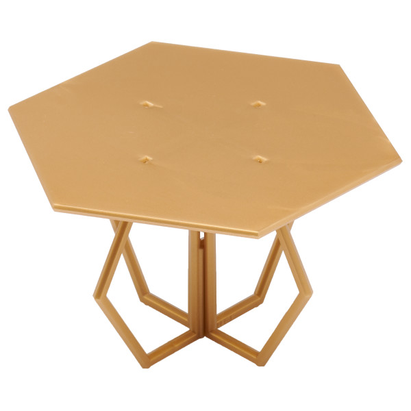 "Hexagon 4"" Gold Cake Stand"