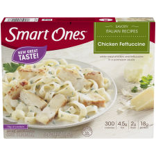 Smart Ones Savory Italian Recipes Chicken Fettucini 9.25 oz Box