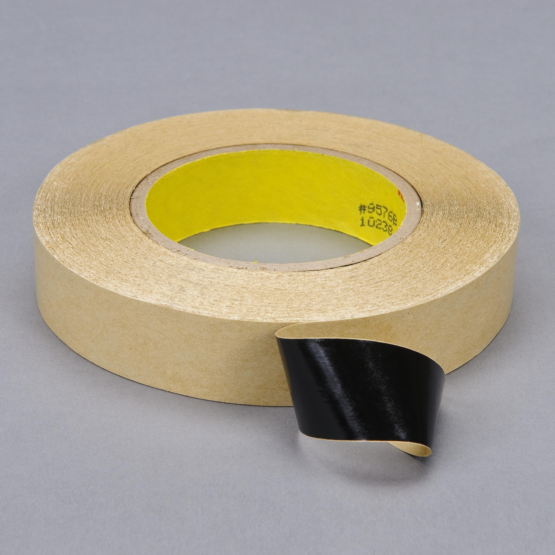 3M™ Double Coated Tape 9576B, Black, 2 in x 60 yd, 4 mil, 24 rolls per case