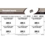 """Fix-A-Thread Threaded Inserts Assortment (#10-24 thru 1/2""""-13 Thread)"""