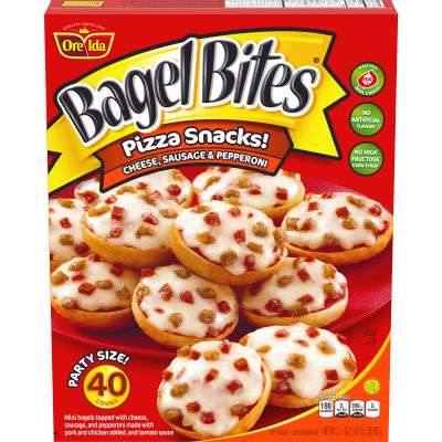 Bagel Bites Cheese, Sausage & Pepperoni Pizza Snacks 40 count Box
