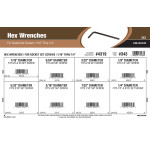 """Hex Wrenches Assortment (1/16"""" thru 1/4"""" for Socket Set Screws)"""