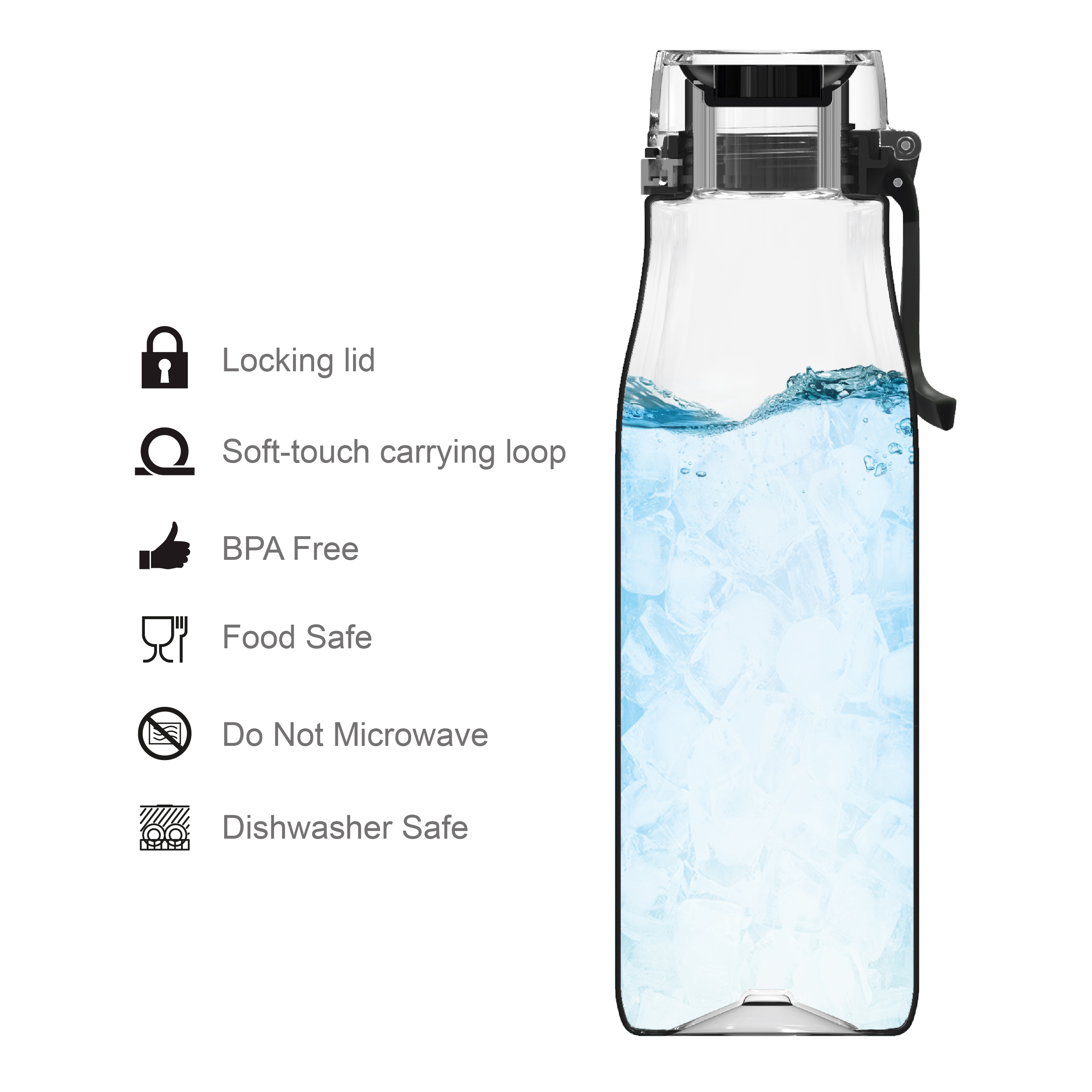 Minecraft 25 ounce Water Bottle and Straws, Weapons and Tools, 3-piece set slideshow image 5