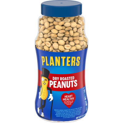 Planters Dry Roasted Peanuts 16 oz Jar
