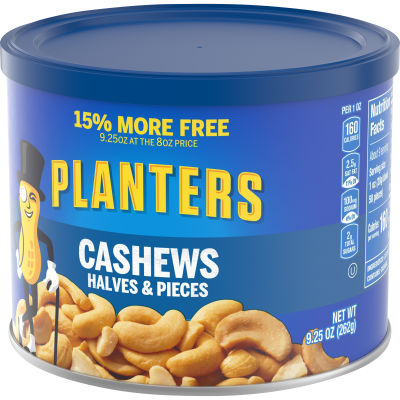 Planters Cashew Halves and Pieces 9.25 oz Canister