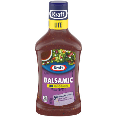 KRAFT Balsamic Vinaigrette Light Dressing 16 fl oz Bottle