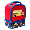 Grid Lock 2-compartment Reusable Insulated Lunch Bag, Buses slideshow image 3