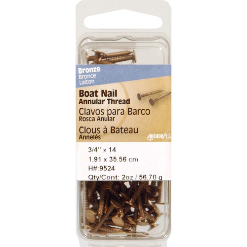 Silicon Bronze Boat Nails 3/4