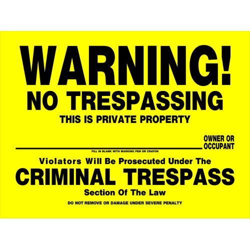 No Trespassing Sign (12