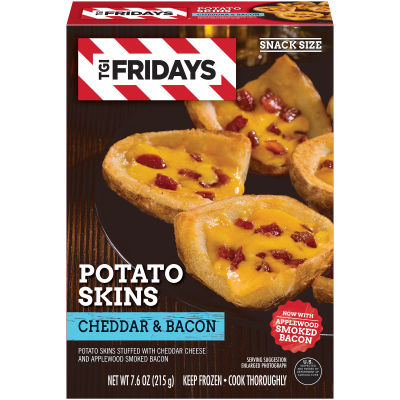 T.G.I Friday's Cheddar & Bacon Potato Skins, 7.6 oz Box