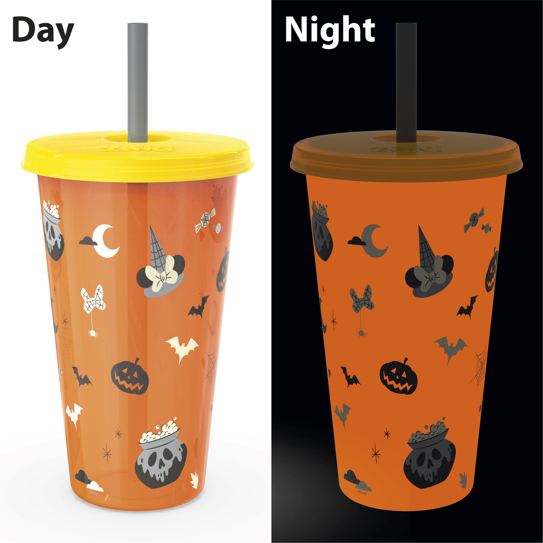 Disney 24 ounce Reusable Plastic Kids Tumbler, Mickey Mouse, 4-piece set slideshow image 8