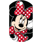 Minnie Mouse Black Military Quick-Tag