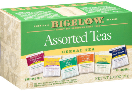 Assorted Herbal Teas - Case of 6 boxes- total of 108 teabags