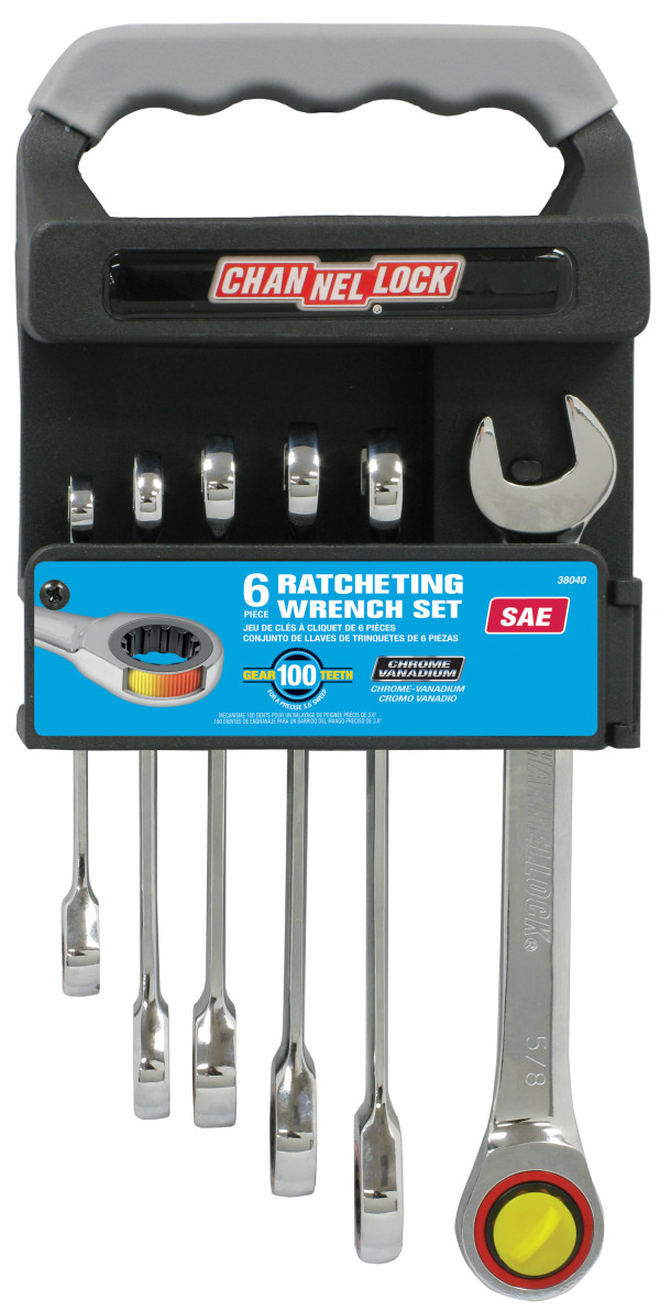 38040 6pc SAE Ratcheting Combination Wrench Set