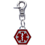Small Hexagon Medical Alert Charm Quick-Tag