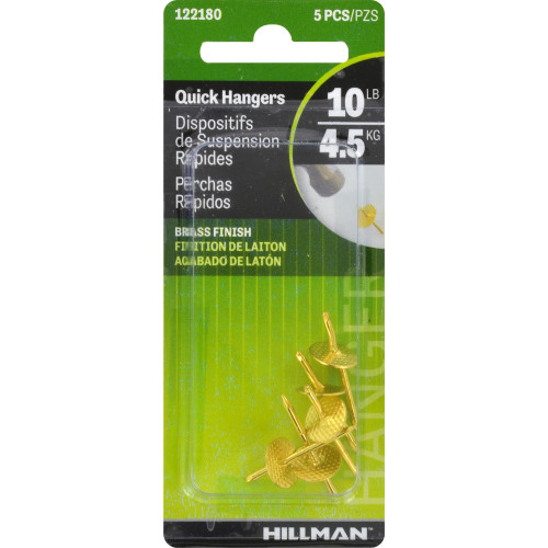 Hillman One-Step Hangers Brass 10lbs