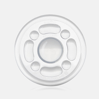 Soother: Durable, 1-piece silicone soother has multiple teething surfaces to help massage gums.