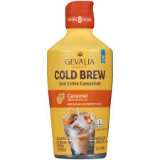 Gevalia Cold Brew Caramel Concentrate Iced Coffee 32 oz Bottle