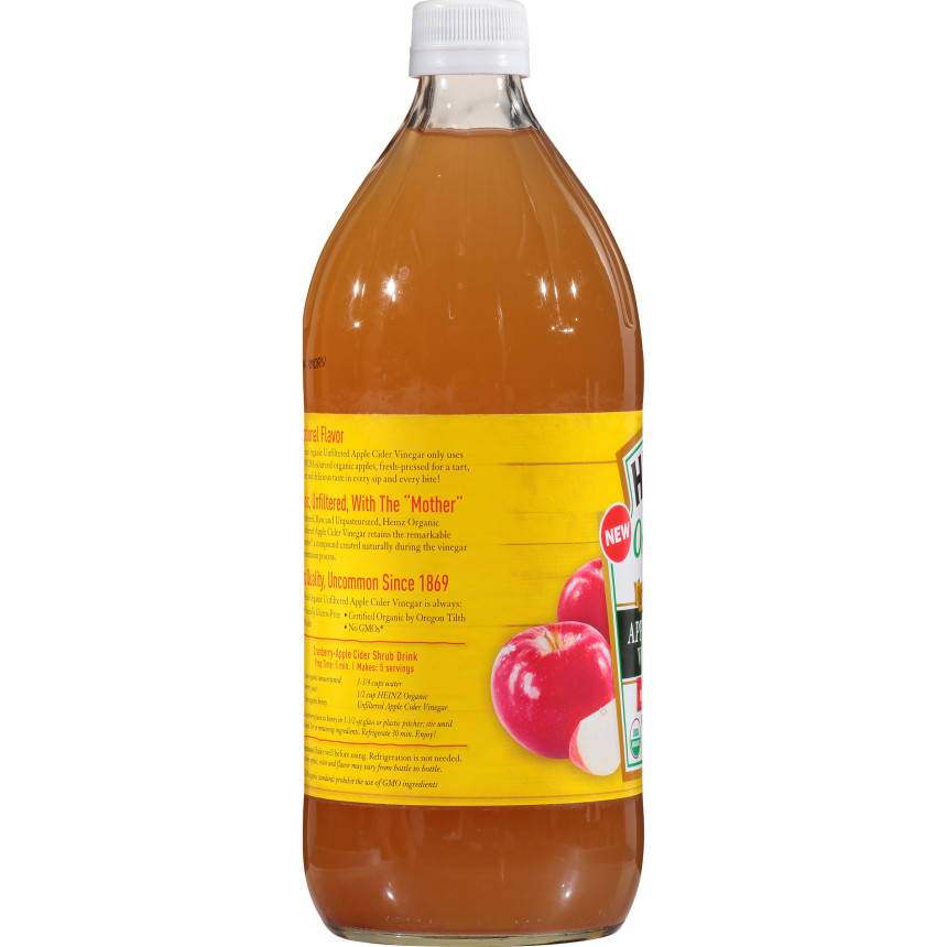 Heinz Apple Cider Organic Vinegar, 6 - 32 fl oz Bottles