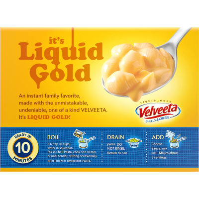 Kraft Velveeta Original Shells & Cheese Dinner 2 - 12 oz Boxes