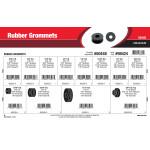 """Rubber Grommets Assortment (5/16"""" thru 1-1/2"""" Overall Length)"""