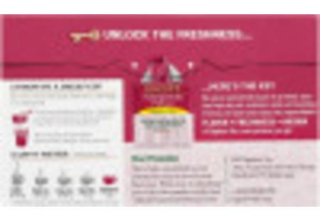 Back panel of Pomegranate Pizzazz Herbal Tea box
