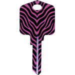 Pampered Girls - Zebra Key Blank